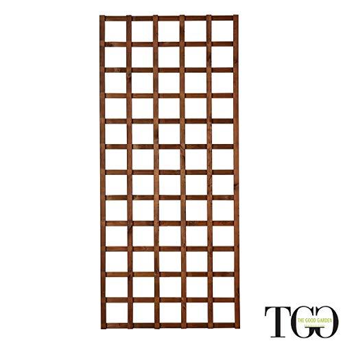 Griglia in legno per esterno Hortus color castagno 80 x 180 cm