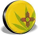 Beth-D Marijuana New Mexico Flag Cubierta De Neumático De Repuesto Impermeable para Remolque RV SUV Camión Accesorios De Remolque De Viaje 14-17inch