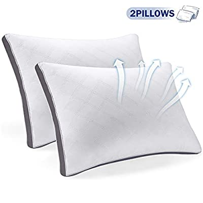 SEPOVEDA Sleeping Pillows,Pack of 2, Ultrabounce Pillow for Neck Pain Suffers,Anti-Mite&Odorless(51 * 66cm,1 Pair)