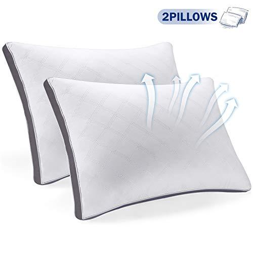 SEPOVEDA 2er Set Kopfkissen,Hochwertiges Kissen für Nackenschmerzen leidet,Anti-Mite&geruchlos (51 * 66cm,1 Paar)