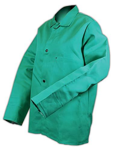 "Magid 1834XL SparkGuard Flame Resistant Cotton Standard Weight Jacket, 30"" Length, XL, Green"