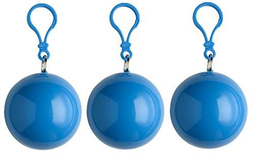sinsey 3er Set Poncho Notfall-Poncho Regenponcho Regencape (blau)