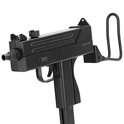 Softair Gun Airsoft Maschinenpistole + Munition | MBX-M42-F. Profi Voll ABS + Metall | 33cm. Inkl. Magazin & 0,5 Joule