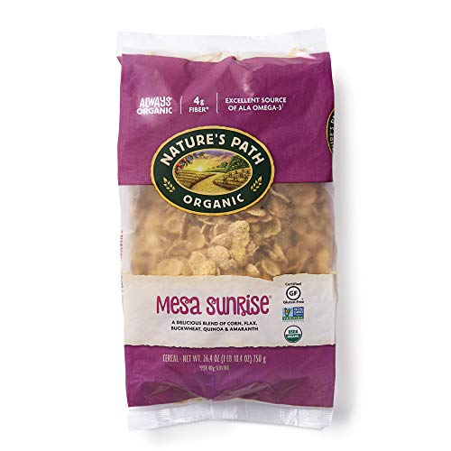 Nature's Path Organic Gluten Free Mesa Sunrise Flakes Cereal, 1.65 Lbs. Earth Friendly Package (Pack of 6), Non-GMO, Heart Healthy, High Fiber, 4g Plant Based Protein