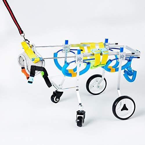 Tongping Adjustable Dog Pet Wheelchair,...