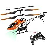 VATOS Helicóptero teledirigido – 22 minutos volando con luz LED – 2,4 GHz y 3,5 canales – Mini helicóptero para niños y adultos – Ideal como regalo