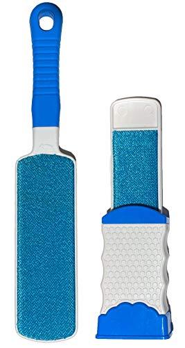 FT Fusselbürste magisch, Blau, selbstreinigende Bürste zum entfernen von Tierhaaren, Haaren und Fusseln auf Kleidung, Teppich UVM.