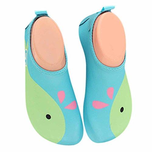 GudeHome Enfants Beau Dessin animé Chaussures de peau Barefoot eau Aqua Socks natation plage plongée yoga Chaussures