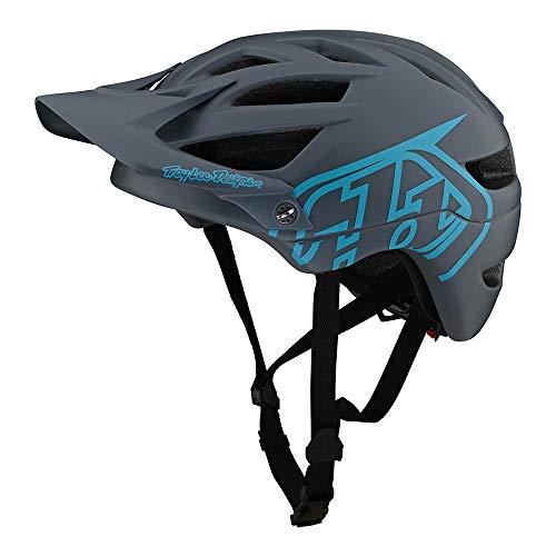 Troy Lee Designs Adult | All Mountain | Mountain Bike Half Shell A1 Helmet Drone (Gray/Blue, XL/XXL)