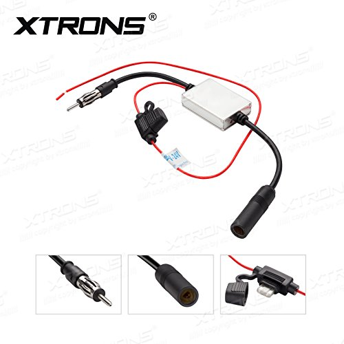 XTRONS Car Radio Booster Stereo FM&AM Signal Antenna Aerial Signal Amp Amplifier Inline