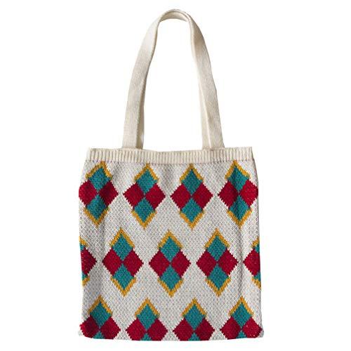 TENDYCOCO bolso de ganchillo bolso de hombro de punto bolso de punto bolso de mano tejido para mujer
