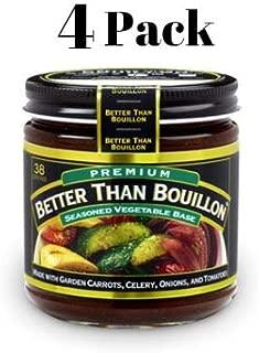 Better Than Bouillon Premium Seasoned Vegetable Base 8 oz (Pack of 4) in a Prime Time Direct Sealed Bag