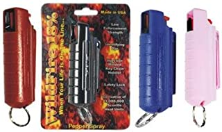 1/2 oz. Wildfire Small 18% Pepper Spray Blue Injection Molded Holster w/Keychain
