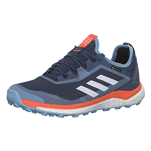 adidas Terrex Agravic Flow GTX W, Zapatillas de Cross para Mujer, Azul (Tech Ink/Glow Blue/Hi/Res Coral Tech Ink/Glow Blue/Hi/Res Coral), 38 EU