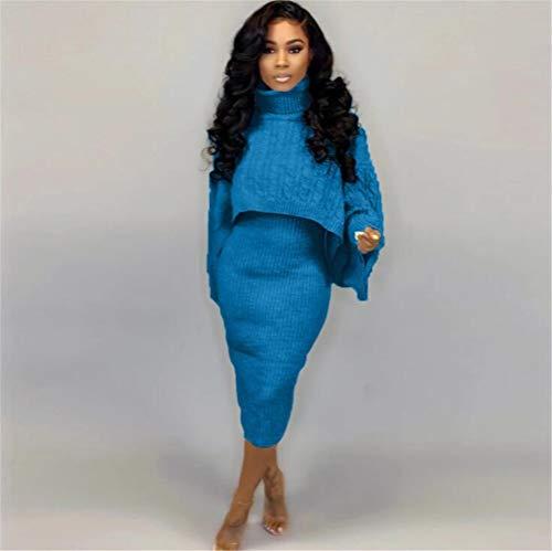 Sweater Rok 2-delige set, trui jurk coltrui trui voor dames en vrouwen