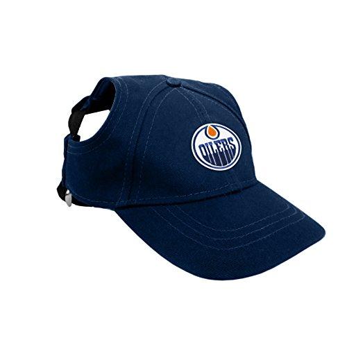 NHL Edmonton Oilers Pet Baseball Hat, Large