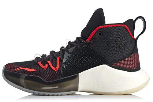 LI-NING Sonic VII Series CJ McCollum tênis de basquete masculino profissional forro mono fio amortecimento TPU usável sapatos esportivos para homens ABAP019 ABPP029 ABAP033 ABAP077, Sonic Ⅷ Black, 8