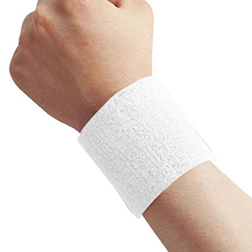 Mengonee 1x Unisex Frottier Baumwolle Schweißband-Sport-Handgelenk Tennis Yoga Schweißband