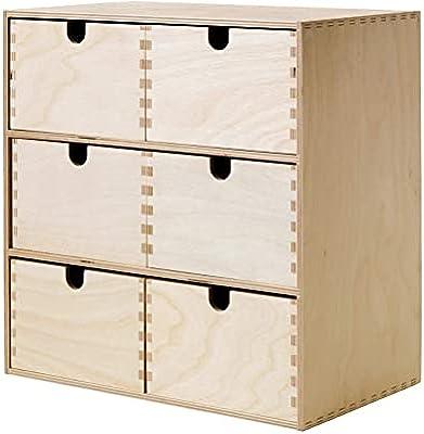 Ikea Moppe - Mini-cassettiera, 31 x 18 x 32 cm, colore: betulla