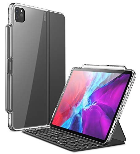 i-Blason Case for New iPad Pro 11 2020 Release(2nd Generation), [Premium Smart Folio Cover] Hybrid Protecive Clear Case with Pencil Holder for iPad Pro 11 Inch 2020 Release (Clear)