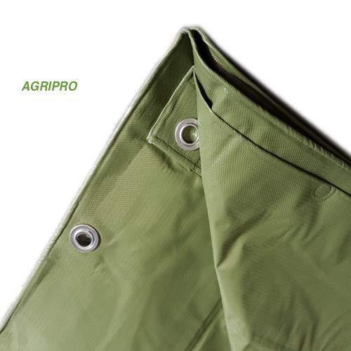 AGRIPRO Bâche PVC bâche œillet couverture imperméable extérieur vert multi-usage ultra MT 3 X 3