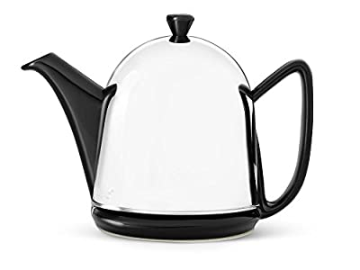 bredemeijer Cosy Manto Teapot, 1-Liter, Black Ceramic with Insulated Shell