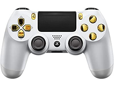 White/Gold PS4 PRO Modded Controller for Rapid Fire Custom Modded Controller 40 Mods for All Major Shooter Games & More (CUH-ZCT2U) from Modded Zone