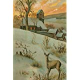 2021 Daily Planner Vintage Deer Hill Snowy Country Village Background 388 Pages: 2021 Planners Calendars Organizers Datebooks Appointment Books Agendas