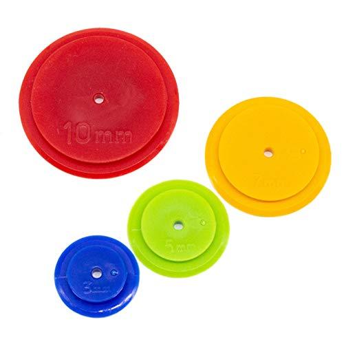 Wollaston - Dischi di rintracciamento, 4 pezzi per confezione di strumenti per patchwork, fatti a mano, 4 pezzi