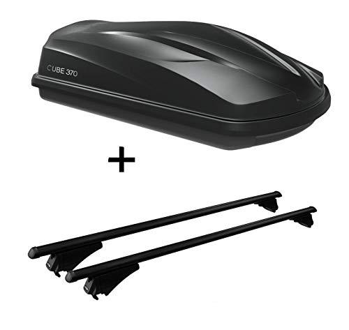 VDP Dakkoffer/bagagebox CUBE370 + dakdrager tijger staal XL compatibel met Opel Zafira B 2008-2012