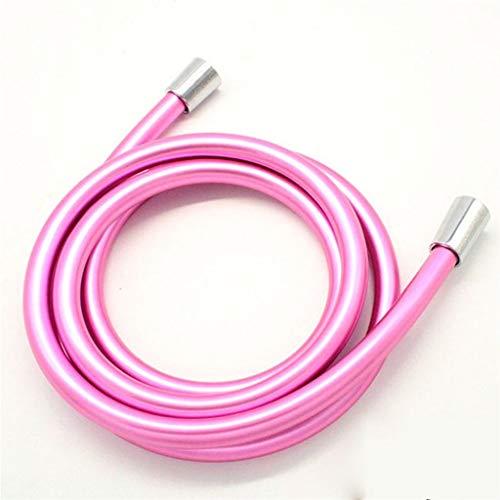 Plomería De La Manguera De Ducha De PVC Flexible, para Baño De Cabecera De Ducha De Mano F1 / 2 × F1 / 2 Accesorios Tubería (Color : Pink, Size : 40CM)