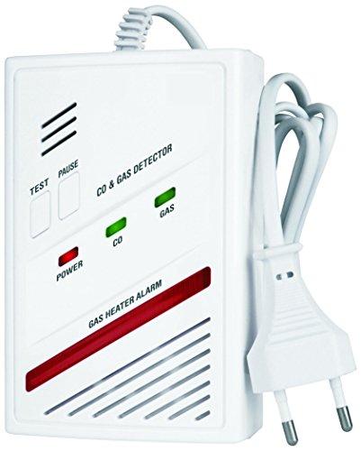 Smartwares RM337 SW 2-in-1 Kombi-Detektor, Kohlenmonoxid- und Gas-Melder (Butan, Propan, Methan)