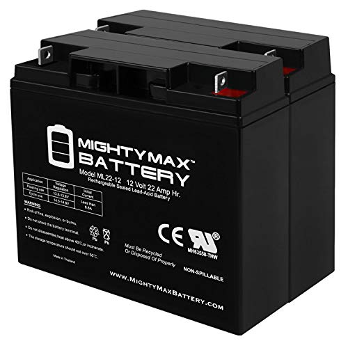 Mighty Max Battery ML22-12 - 12V 22AH BMW R1100RS R1100RT 51913 Battery - 2 Pack Brand Product