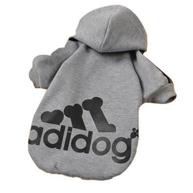 Adidog Athletisch Pullover Hoodie ist eine praktische Alltagsjacke die kalte Jahreszeit. Modisch und cool. Machen Sie Ihren Hund attraktiv zu sein Material: Baumwolle Lieferumfang: 1*Adidog Haustier Bekleidung