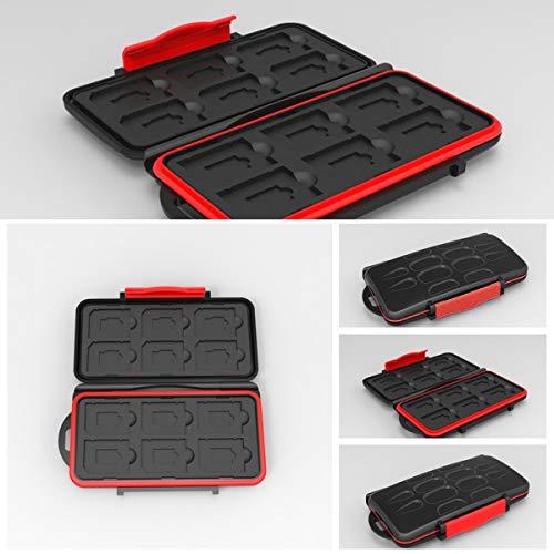Ruiqas Kartenhalter, wasserfester Kartenhalter Wasserdichter Speicherkarten-Aufbewahrungsbehälter für 12 SD + 12 Micro SD-Karten