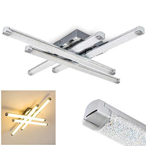 Moderna Lámpara de techo LED Iskut - 4x 4,5W LED alta eficiencia - 1600 Lumens 3000K blanco cálido - Largo 50cm color cromo - Lámpara de techo