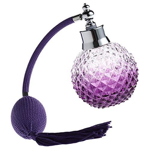HEALLILY Botella de Spray Atomizador de Perfume Recargable de Cristal Púrpura de...