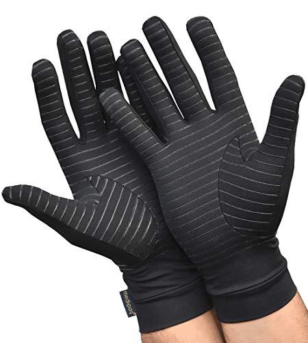 Medipaq Arthrose Handschuhe - Kupfer Kompressionstherapie Handschuhe mit Grifffläche (1 x Paar – S, M oder L)