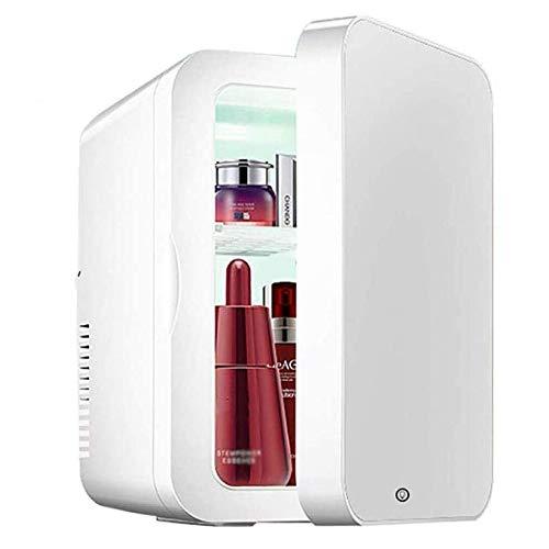 Mini Refrigerador Cosmético De 8 Litros, Espejo De Maquillaje 2 En 1, Refrigerador Para El Cuidado De La Piel Con Luz LED, Gabinete De Almacenamiento Portátil Compacto, Mini Refrigerador Multifunción