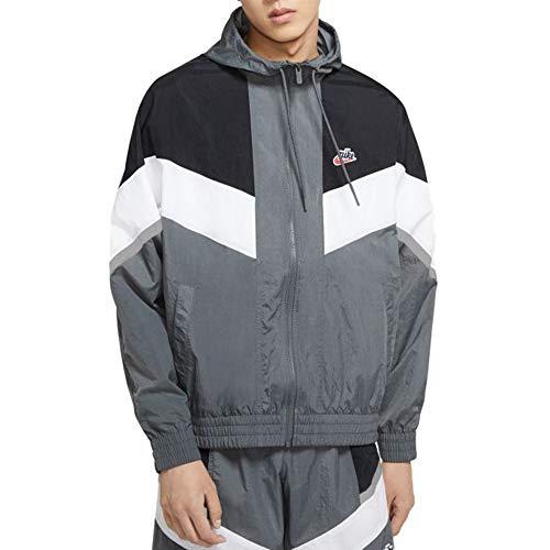 Nike Windrunner+ - Chaqueta cortavientos para hombre con capucha, color gris, talla XS, cód. CZ0781-068 -9M