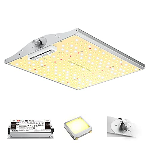 VIPARSPECTRA Latest XS1000 LED Grow Light, with Samsung LM301B Diodes (IR Included) & MeanWell Driver, Dimmable Full Spectrum Plant Grow Light for Indoor Plants Seeding Veg and Flower