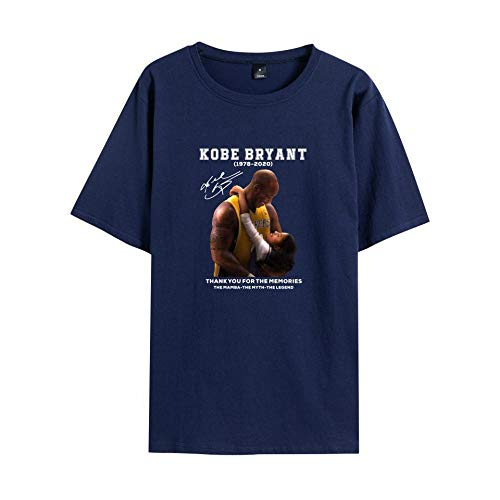 Camiseta Deportiva Lakers de algodón con Estampado de Manga Corta-Tibetan Di D_XL #