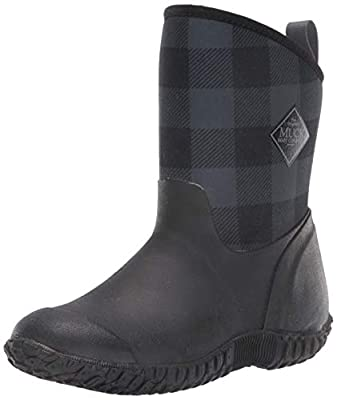 Muck Women's Muckster II Mid Cozy Fleece Lining Black/Grey Plaid