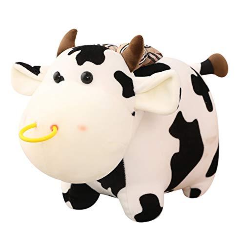 SJYDQ Vaca muñeca Mascota rellena Encantadora Animal Ganado Peluche Juguetes para niños niñas Amante cumpleaños Navidad Regalo Almohada (Size : 40cm)
