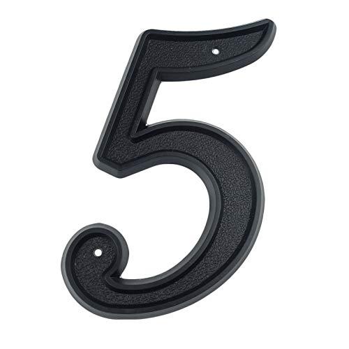 Zmaoyun-Números para Casas # 5 Casa Grande Número de la casa 139mm de Altura Dirección de la Puerta Número Dígitos de la Puerta de la casa de la casa de la casa de plástico, Fácil instalación