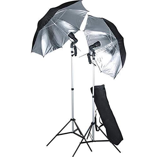 Fotostudio set met 2 x flits, paraplu + statief