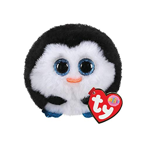 TY 42510 Waddles Penguin Puffies Pinguin Plüschtier, Mehrfarbig