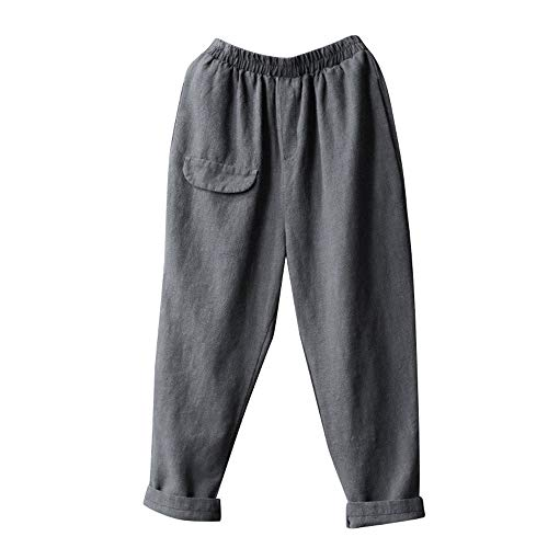 Zegeey Pantalones de Linterna Casuales de los Hombres Pantalones de chándal Baile Pantalones de Yoga Pantalones Harem Casuales Gimnasio Recto Color sólido Pantalón Pantalones(S-5XL)
