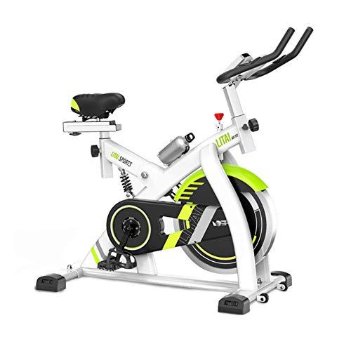 TXDWYF Ejercicio Fitness, Bicicleta Estática, Bicicleta Estática con Sensores de Pulso de Mano, Bicleta de Gimnasio, Transmisión por Correa, Volante de inercia 8kg, Monitor LCD, Adultos Unisex,Blanco