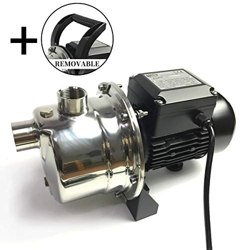 BACOENG 4Bar 900GPH Stainless Steel Jet Pump for Garden Lawn Irrigation - Industrial Grade Motor Inside (30% More Powerful Than 1.6HP Civil Grade)
